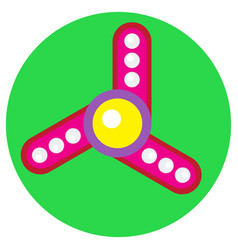 pink spinner with white balls vector image