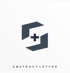 Plus and letter s template vector