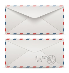 Postage envelopes vector image