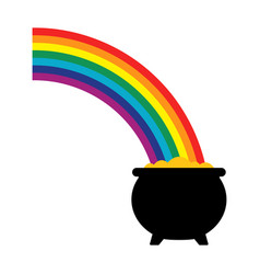 Pot of gold icon vector