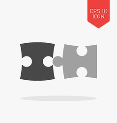 Puzzle icon Flat design gray color symbol Modern vector image