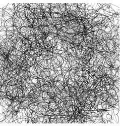 Random squiggly lines abstract chaotic texture vector
