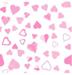 romantic pink heart seamless pattern vector image