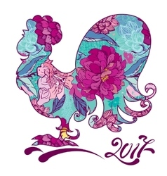 rooster image symbol 2017 on chinese vector image