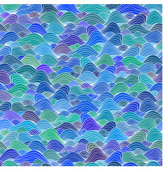 seamless decorative pattern with sea waves vector image
