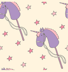 Seamless pattern with unicorns vector