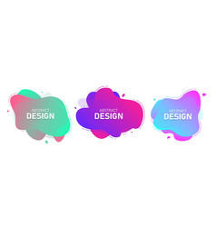 set modern abstract banners fluid vector image