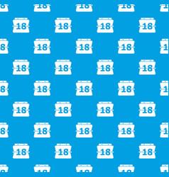 sheet calendar pattern seamless blue vector image