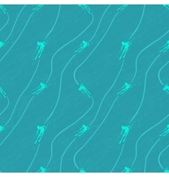 Ski downhill seamless pattern background vector