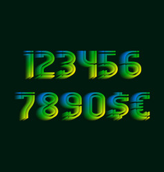 Sliced luminous gradient numbers with currency vector