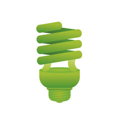 spiral bulb light vector image