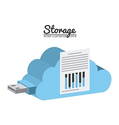 storage device vector image