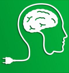 Thinking man creative brain idea concept vector