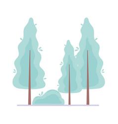 trees bush vegetation botanical foliage isolated vector image