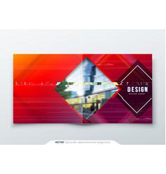 trendy glitch cover design template for square vector image
