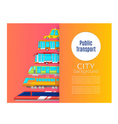 urban public transport poster includes bus vector image