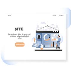 Web developer website landing page design vector