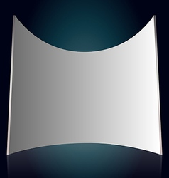 White projection screen vector image