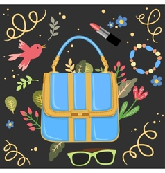Woman handbag background vector