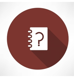 notebook whith question vector image