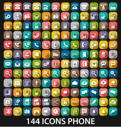 Set phone icon vector image vector image