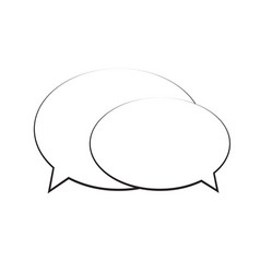 speech bubble icon isolated vector image vector image