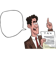 tax agent vector image