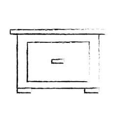 bedside table furniture modern style image sketch vector image