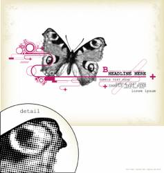 butterfly design element vector image vector image