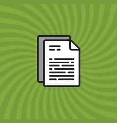 documents icon simple line cartoon vector image