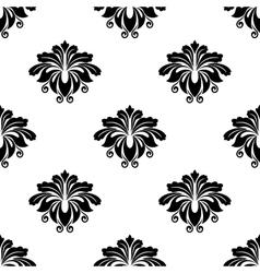 Floral damask arabesque motifs seamless pattern vector image vector image