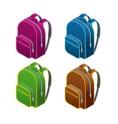 Isometric school bag Isolated on white background vector image
