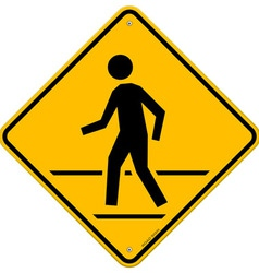 Pedestrian Traffic Sign vector image vector image