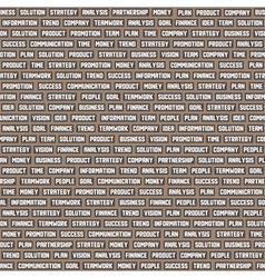 seamless background pattern with business keywords vector image vector image