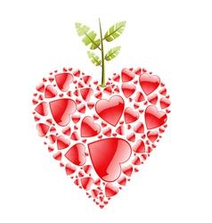 love apple vector image vector image