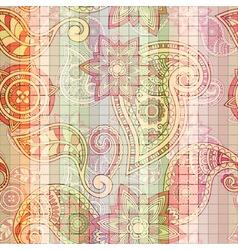 seamless tile paisley pattern vector image