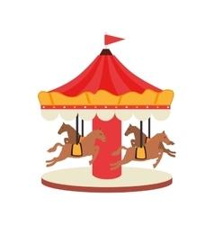 carrousel fair attraction icon vector image
