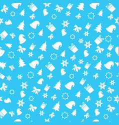christmas new year holiday background pattern vector image