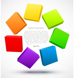 Colored plates 3D vector image vector image