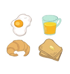 Drawn Breakfast vector image