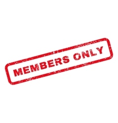 Members Only Text Rubber Stamp vector image