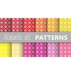 Pastel retro patterns vector image vector image