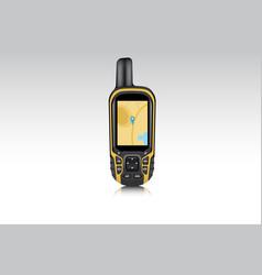 realistic gps navigator device vector image