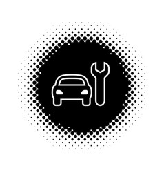 silhouette icon of car repair service vector image vector image