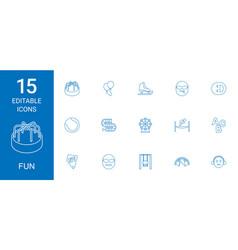 15 fun icons vector