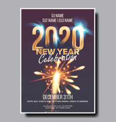 2020 christmas party flyer poster happy vector image