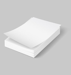 A 4 stack of paper 02 02 vector