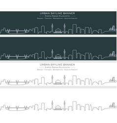 Amman single line skyline banner vector
