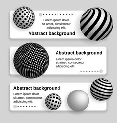 business banner with 3d balls vector image