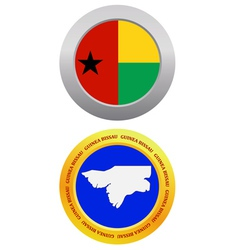 button as a symbol GUINEA BISSAU vector image